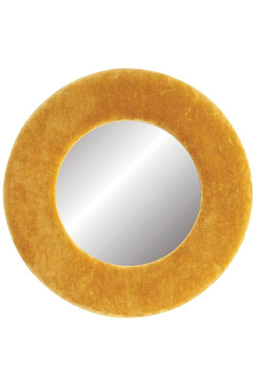 Mustard Velvet Mirror
