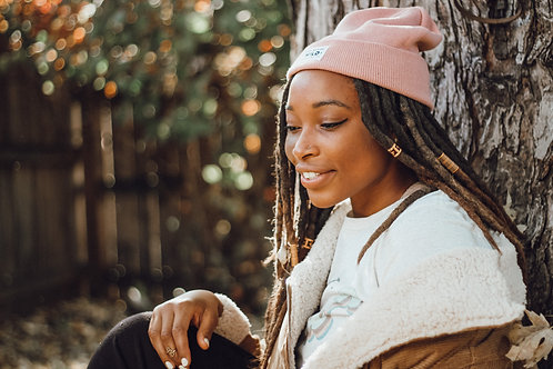Keep Nature Wild Beanie - Blush
