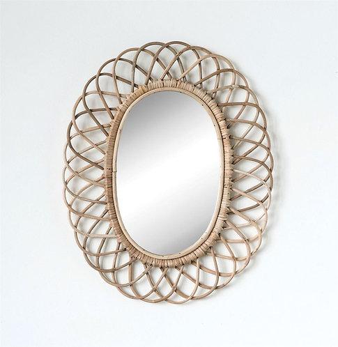 Woven Bamboo Mirror