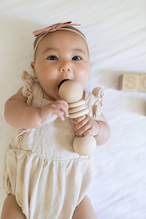 Natural Wood Rattle