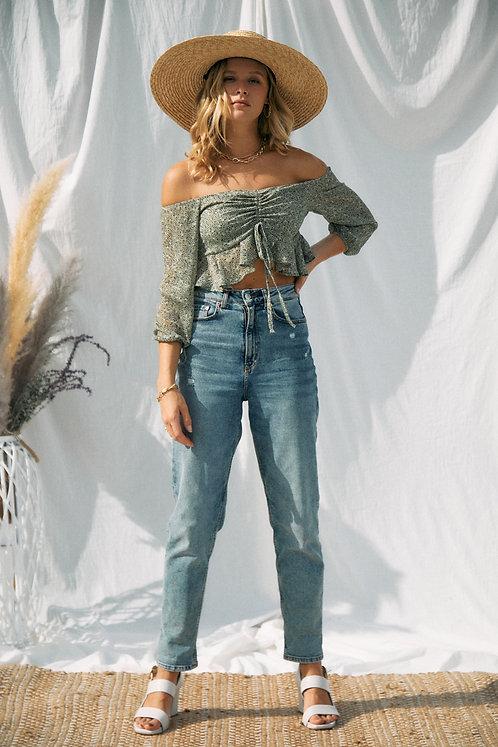 Corinne Floral Crop Top