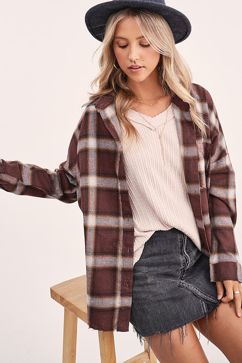 Brown Fall Flannel