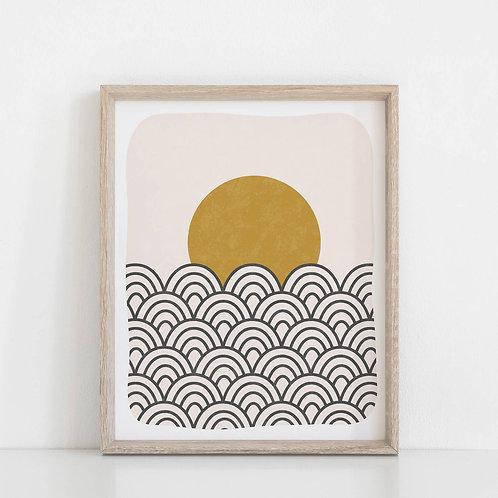 Sun & Waves Print
