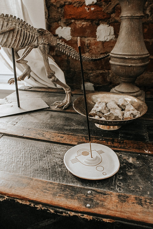 Sgraffito Incense Dish