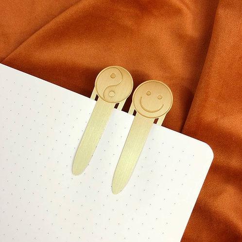 Yin Yang & Smiley Bookmark