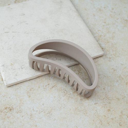 Khaki Bean Hair Claw Clip