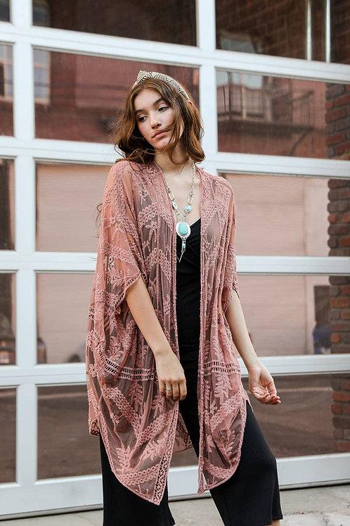 Asher Kimono - Rose
