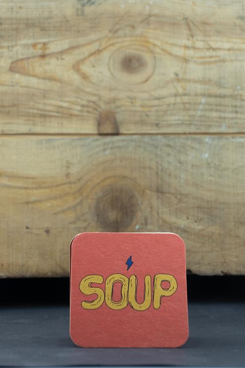 "Garage ""Soup"" Bierdeckel (25 Stück)"