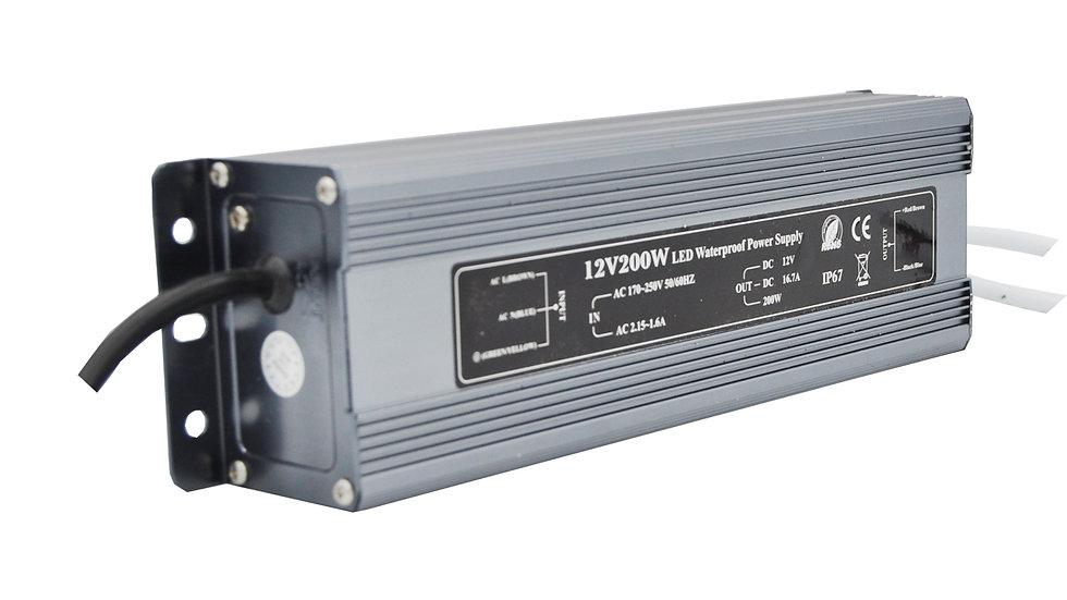 Блок питания IP 67 12 Вольт - 200 Вт