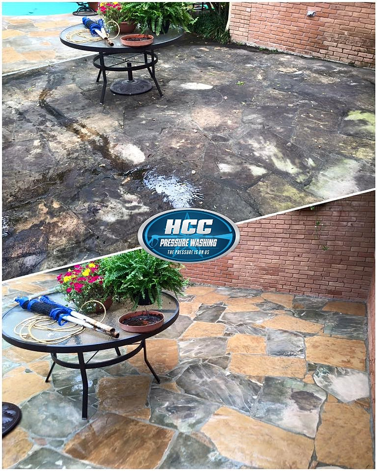 Flagstone Patio Cleaning