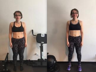 Transformation impressionnante de Gaelle qui perd près de 8 kg en 10 semaines !!