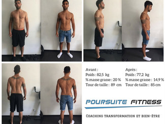 - 5% de masse grasse : en 16 semaines Antonio est affuté pour sa rentrée sportive