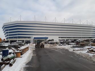 Аренда спецтехники на стадионе Калининград