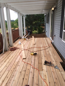 New Deck - During