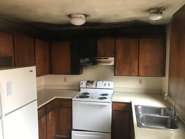 Kitchen Before - Fire Damage