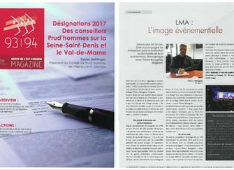 LMA est paru dans un article du Magazine du MEDEF DE L'EST PARISIEN