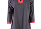 Basic Medieval Tunic - Black with Red