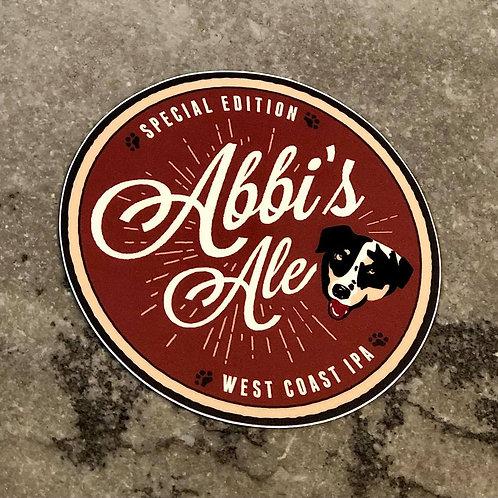 Abbi's Ale Stickers
