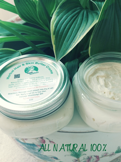 HERBAL HAIR AND SKIN BUTTER (8 oz)