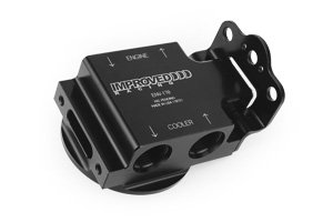 IMPROVED RACING -12AN OIL FILTER RELOCATION HOUSING W/ THERMOSTAT