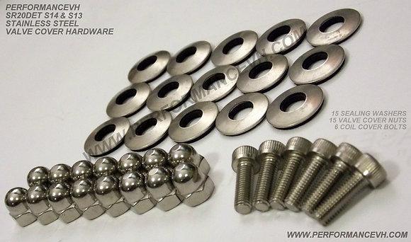 SR20DE(T) Stainless Steel Valve Cover Hardware Kit