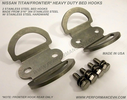 Nissan Titan & Frontier Heavy Duty Stainless Steel Bed Hook