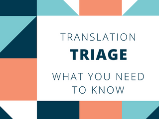 Translation Triage - How to Save Time and Money