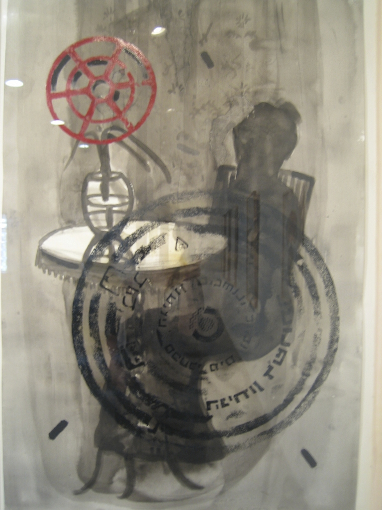 Ma'arachot 2006 – mixed media 110x73