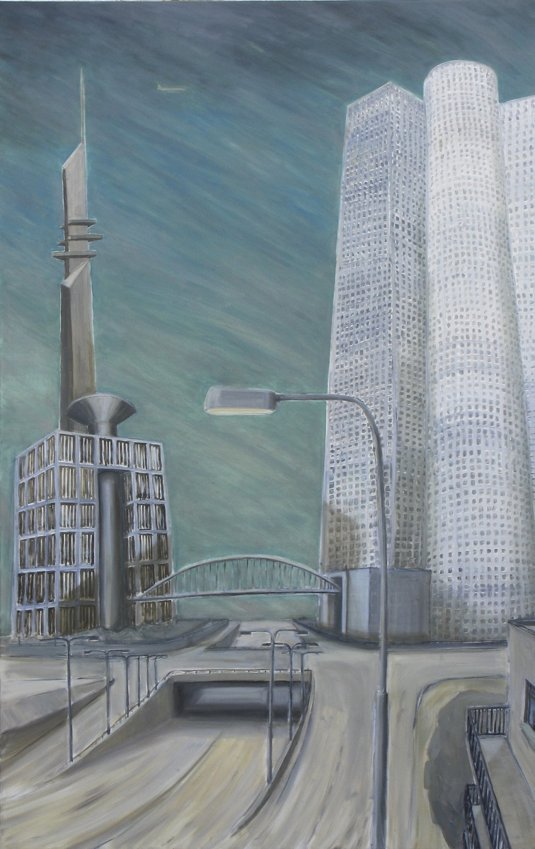Nefilim 2009, charcoal and oil on ca