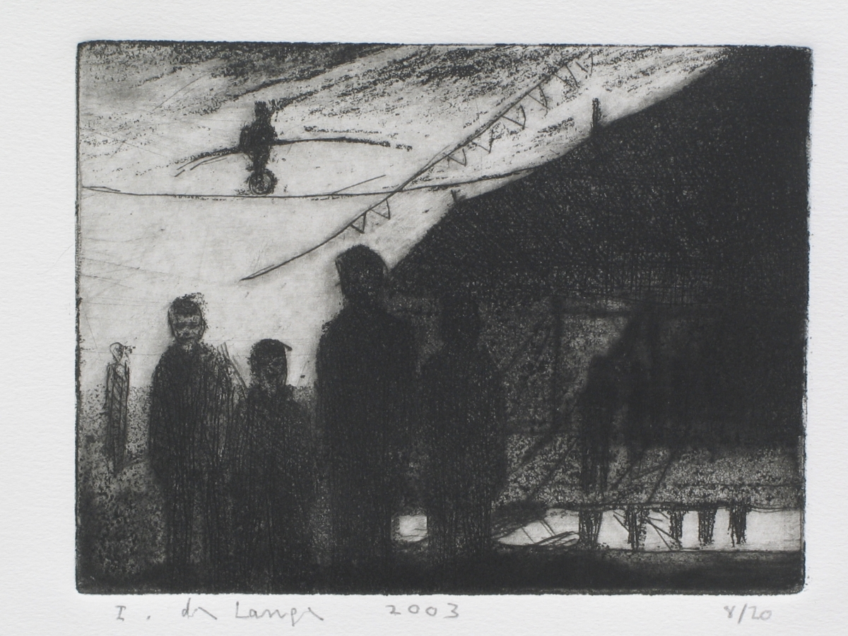 The visit 2003 –dry point –25x30cm