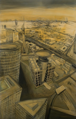 Nefilim 2008, charcoal and oil on ca