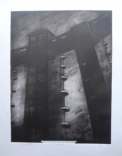 Nefilim 2011, etching dry point, Aqu