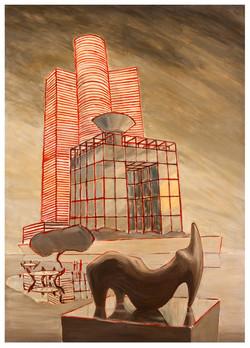 Nefilim 2010, charcoal, acrylic and