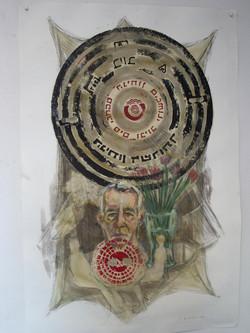 Ma'arachot 2006 – mixed media 110x73