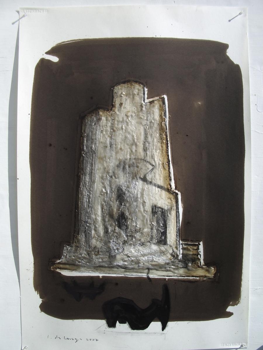 Nefilim 2007, charcoal, asphalt and