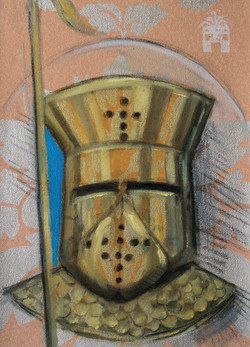 Iron Dome 2012, charcoal and oil on