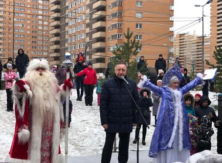 Народное гуляние на Кушелевской дороге