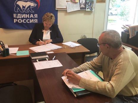Депутат провела личные приемы граждан в Красногвардейском районе
