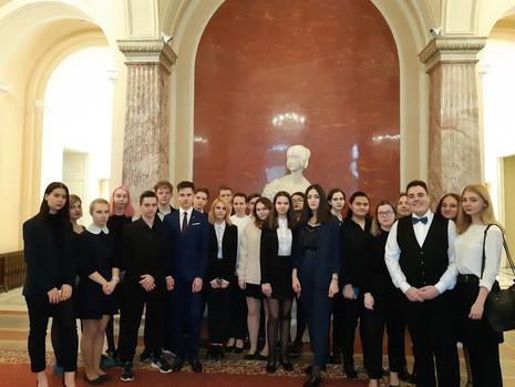 Экскурсия по Мариинскому дворцу для учащихся ГБПО «Колледж кулинарного мастерства»
