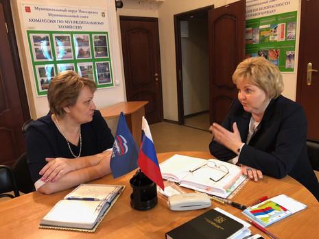 27 марта депутат провела приёмы граждан в Калининском районе
