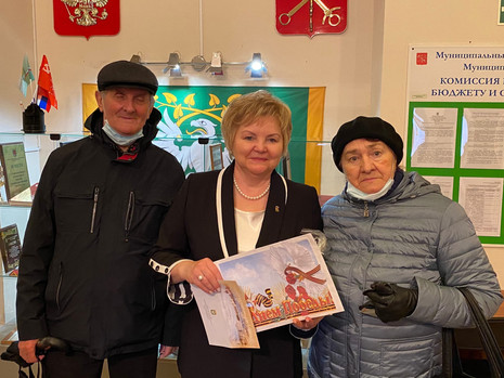 Поздравление ветеранов в МО Пискаревка
