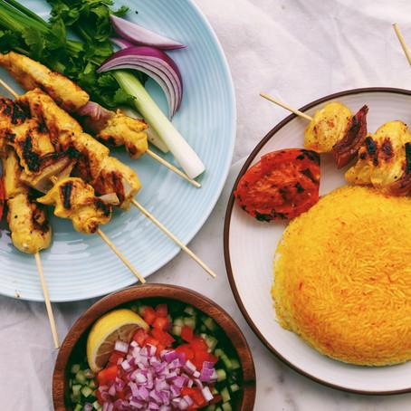 Persian Saffron Chicken Kebab