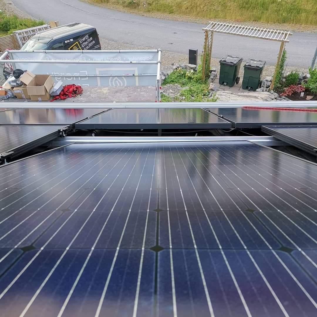 Närbild på solpanel