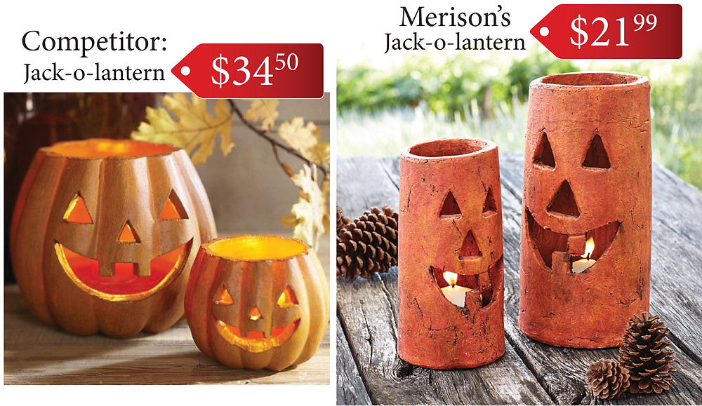 Hello October! Burn bright with these cute jack-o-lantern's from Merison's.