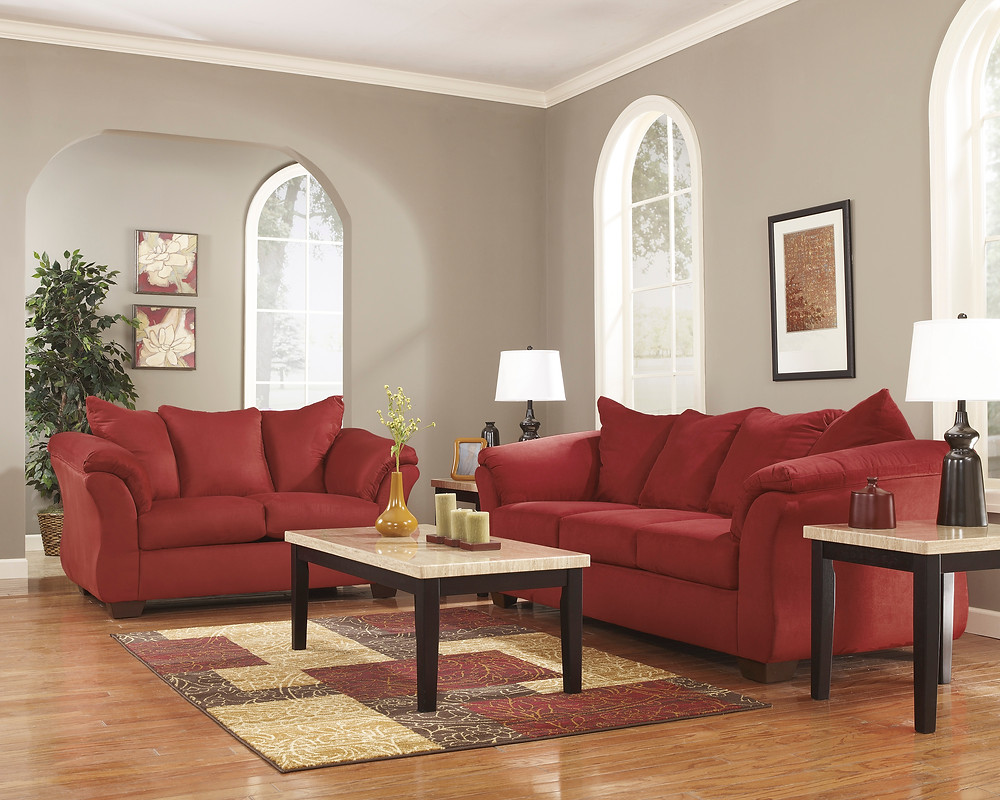 Darcy: available as loveseat, sofa, recliner or sectional in 7 colors