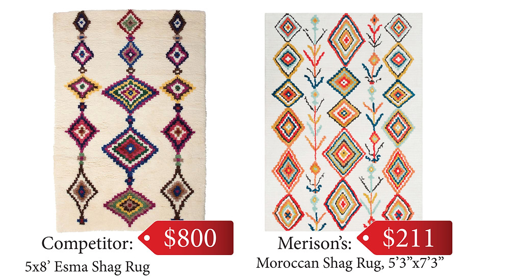 Check out this stylish Surya rug (right), available at Merison's.