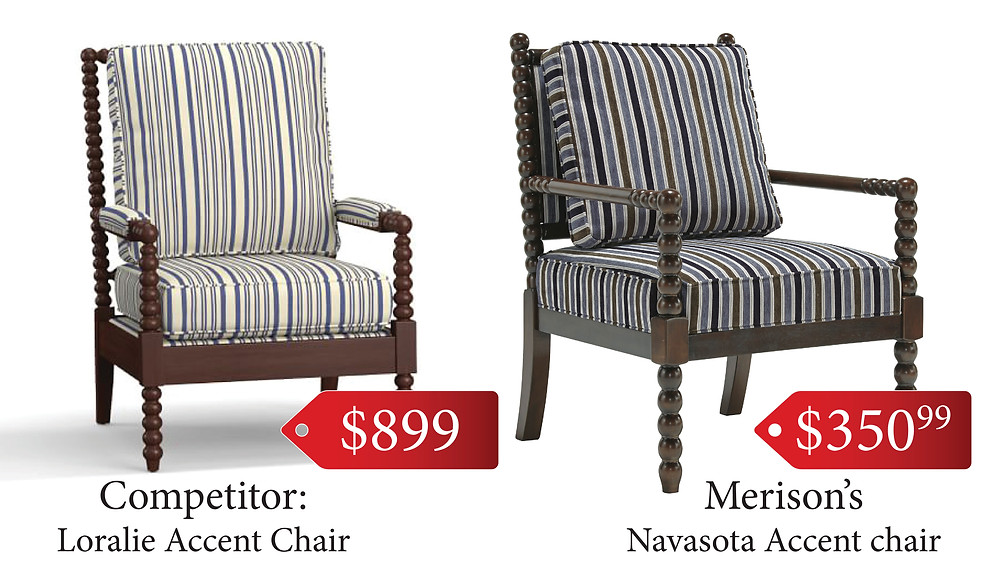 Relax! This Navasota accent chair from Merison's is less than half the price of the competition!