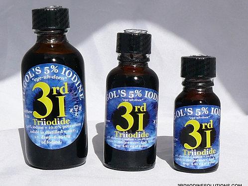Lugols 5% Iodine Solution/Potassium Iodide 6mg/Drop Triiodide LUGOL's 3rdi