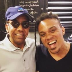 Jorge Ben Jor e Diogo Brown no Rio.