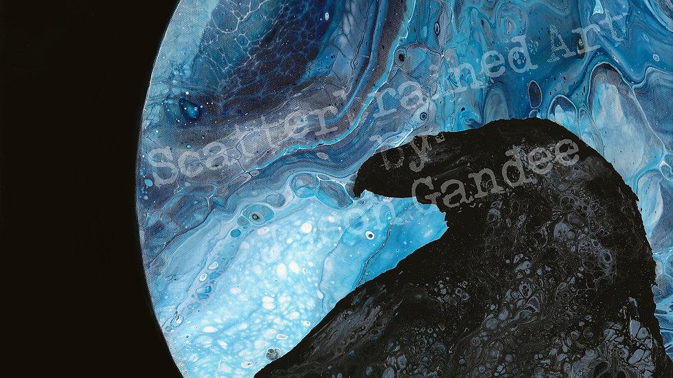 """Moon Raven - 11"""" x 14"""" print"""